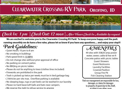 RV Park Registration Sheet